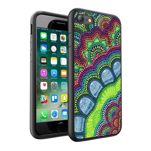 i-Tronixs - Colourful Mandala Design Printed Case Skin Cover - 098