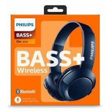 Philips SHB3075BL/00 on-ear Bluetooth headphones powerful basses built-in microphone adjustable headband Blue