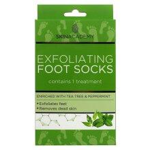 Skin Academy EXFOLIATING Foot Socks : Tea Tree & Peppermint