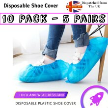 10 Value Blue Disposable Overshoes Shoe Covers (5 Pairs)