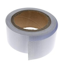 Self-Adhesive Vehicle Reflective Safety Warning Conspicuity Tape Silver 2.5cm