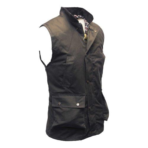 (XL) Walker & Hawkes - Mens Wax Bodywarmer Waistcoat Countrywear Gilet - Navy