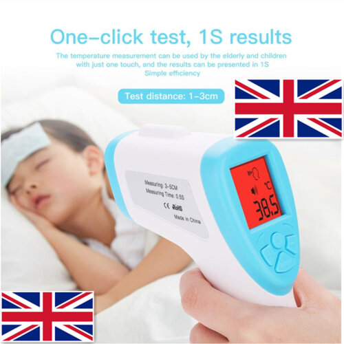 Adults /Kids LCD Digital Thermometer Gun Non-Contact Forehead Infrared