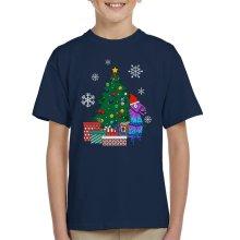 Fortnite Loot Llama Around The Christmas Tree Kid's T-Shirt