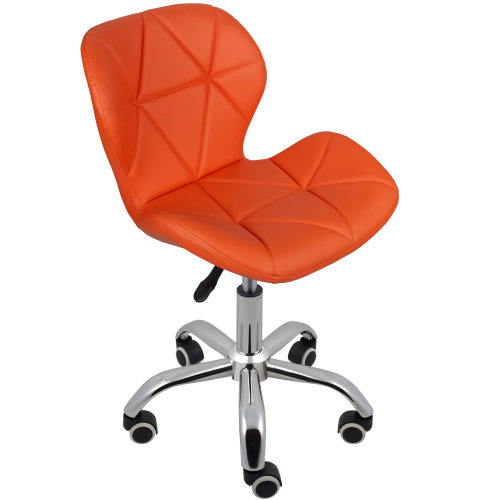 (Orange) Charles Jacobs Cushioned Swivel Office Chair
