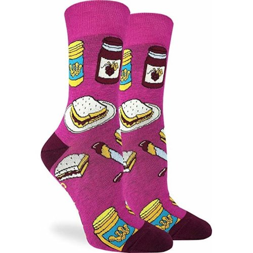 Socks - Good Luck Sock - Women's Crew Socks - Peanut Butter & Jam (5-9) 3220