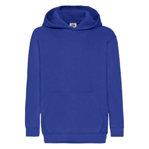 Royal Blue Fruit Of The Loom Classic 80/20 Kids Hooded Sweatshirt Fruit Of The Loom? Size 12/13