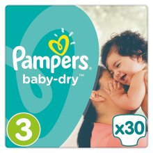 Pampers 30 Baby-Dry - Size 3