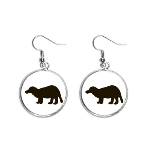 Black Bagcer Cute Animal Ear Dangle Silver Drop Earring Jewelry Woman