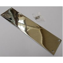 Plain Victorian Polished Chrome Finger Plate