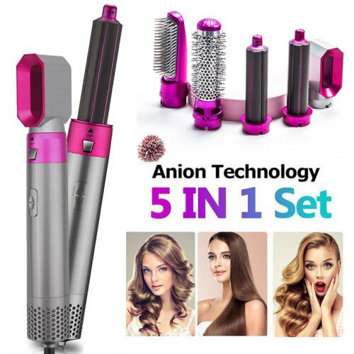 (Hair Styler Set) 5-In-1 Hot Air Brush Hair Curler Set