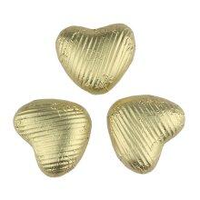 Gold chocolate hearts (Small) - Bulk box of 200