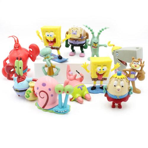 12pcs Spongebob Patrick Cartoon Figure Toy