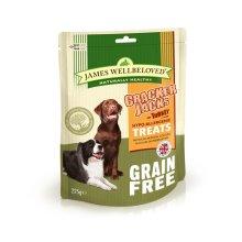 James Wellbeloved Crackerjacks Grain Free Turkey 225g (Pack of 6)