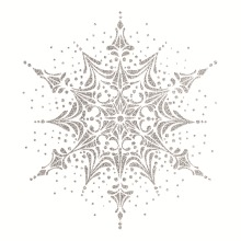 Pack of 8 Snowflake Alzheimer's Society Charity Christmas Cards Xmas Card