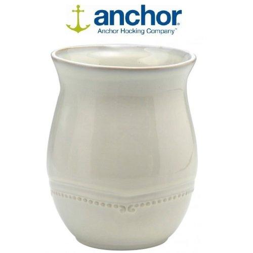 Anchor Hocking Cream Stoneware Kitchen Utensil Holder Organizer 17cm Kitchen Accessories