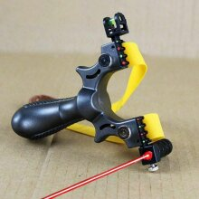 Professional Hunting Slingshot With Level High Precision Instrument (silver)