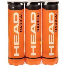 Head Radical Round Performance Durable Pressurized Tennis Ball 12balls