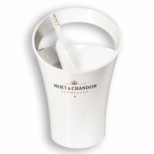 Moet & Chandon Ice Imperial Champagne Ice Cooler Set with Ice Scoop White