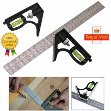 300mm 12 Adjustable Engineers Combination Try Square Set Right Angle