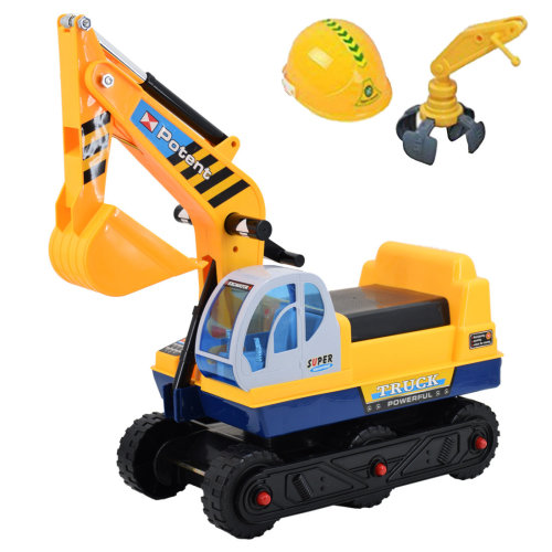 deAO Toys Adjustable Ride-On Excavator    2-in-1 Kids' Ride-On Digger