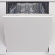 Indesit DIC3B+16UK Fully Integrated Standard Dishwasher - White Control Panel with Fixed Door Fixing Kit