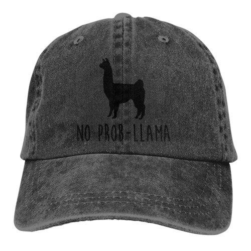 No Prob-Llama Denim Baseball Caps