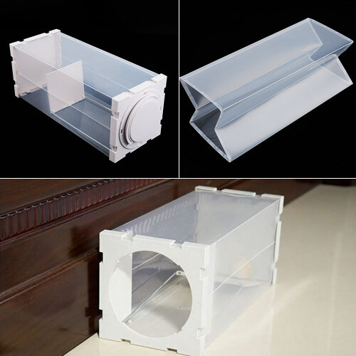 RAT CATCHER SPRING CAGE TRAP HUMANE LARGE LIVE ANIMAL RODENT