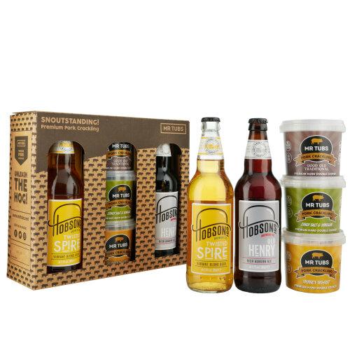 Mr Tubs Pork Crackling & Hobsons Brewery Ale & Beer Gift Set