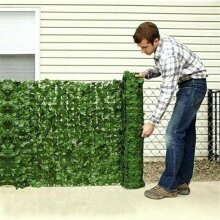 Artificial Ivy Faux Leaf Foliage Privacy Fence Screen Garden Outdoor Hedge 0.5*1M