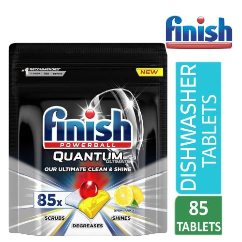 Finish Quantum Ultimate Lemon Dishwasher Tablets (85 Tabs)