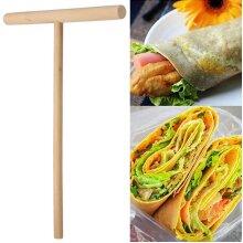 Wooden Kitchen Crepe Maker Pancake Batter Spreader Stick Rake DIY Tool