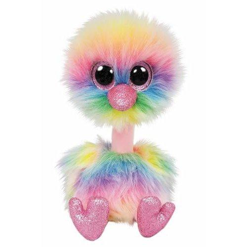 Ty Beanie Boos Asha Pastel Ostrich 15 cm Cuddly Toy,