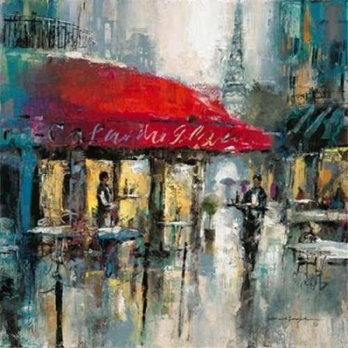 Paris Modern 2 Poster Print by Brent Heighton, 12 x 12 - Small
