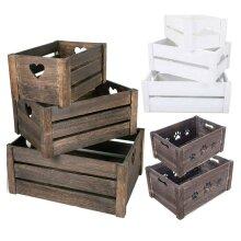 Wooden Farm Shop Wooden Slatted Apple Crate Gift Display Storage Boxes Hamper
