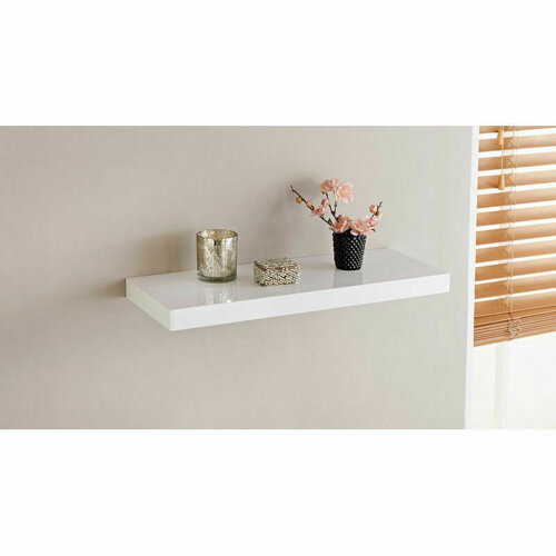 High Gloss Wall Floating Shelf-80CM White G-0046