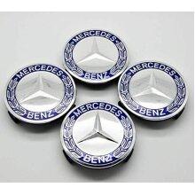 Ss 4x Mercedes Benz Centre Caps 75mm Alloy Wheel Badges Blue Hub Emblem 2019