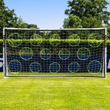 Football Goal Target Sheets [9 Size Options] | Football Training Equipment - Football Net Shooting Targets For Goal Posts | Detachable