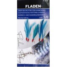 6 Pks Blue White Glitter Flash 5 Hook Size 1/0 Fishing Herring Mackerel Feathers