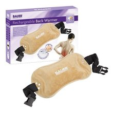 Bauer Tan Rechargable Electric Hot Water Bottle or Back Treatment Pad with Cover