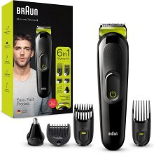 Braun 6-in-1 All-in-one Trimmer 3 MGK3221, Beard Trimmer for Men, Hair Clipper and Face Trimmer with Lifetime Sharp Blades