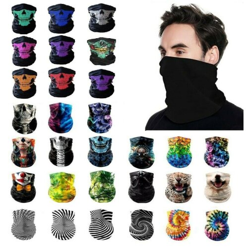 Cycling Face mask Neck Tube Scarf  Bandana UK