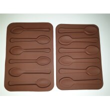 Spoon shape silicone chocolate mould / Silicone spoon Mould / Chocolate Mould Onlineforu Ltd