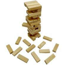 Mini Wooden Tumble Tower Game   Compact Travel Friendly Stacking Game