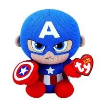 "Ty Marvel Captain America Beanie 6"" Plush Toy"