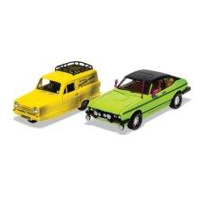 Corgi Del Boy's Reliant Regal And Ford Capri Mkii - 1:36
