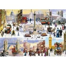 Falcon Deluxe Winter in London Jigsaw Puzzle (1000 Pieces)