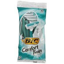 BIC Comfort Twin Men's Disposable Razor, 10-Count