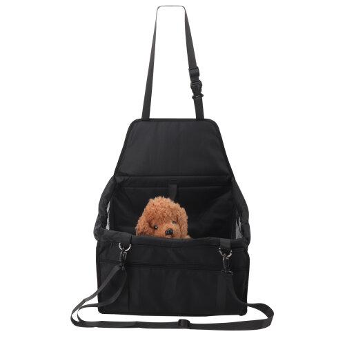 (Black) Folding Car Seat Side Bag for Pets