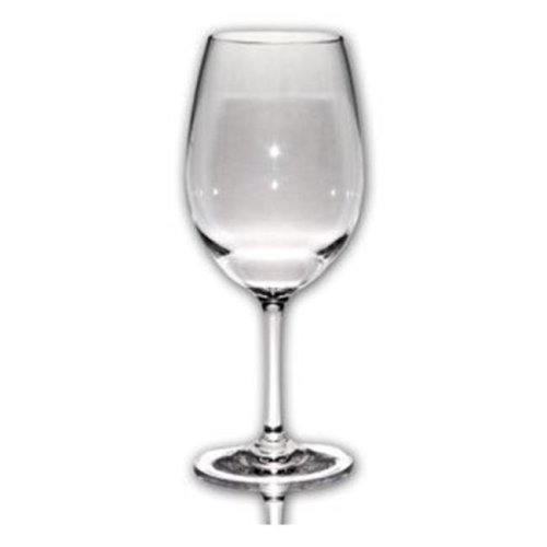 Aspen Brands C092004 16 oz Cabernet Plastic Wine Glasses - Clear, Pack of 4